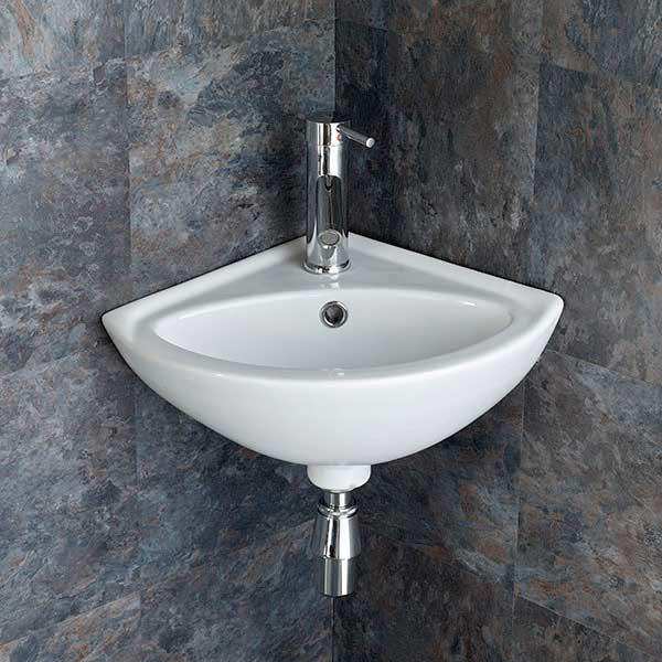 cloakroom corner vanity unit